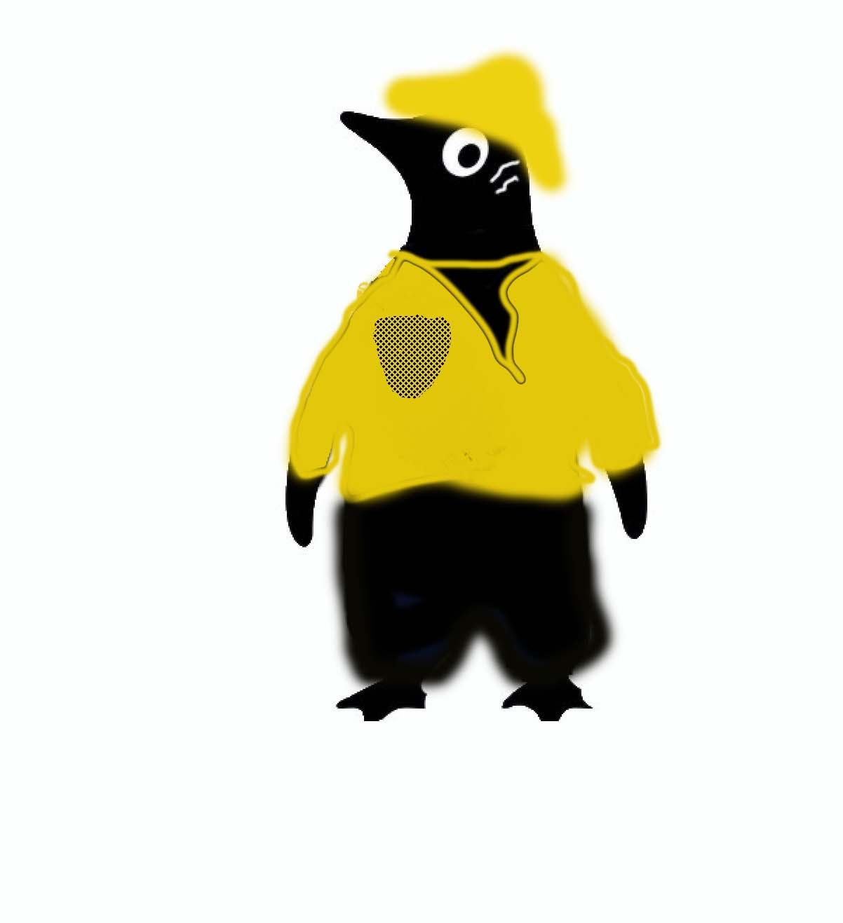 Yellow Casual Penguin